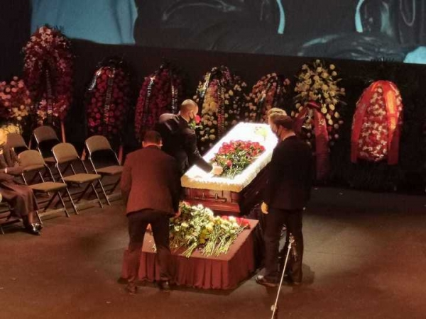 Церемония прощания с Валентином Гафтом