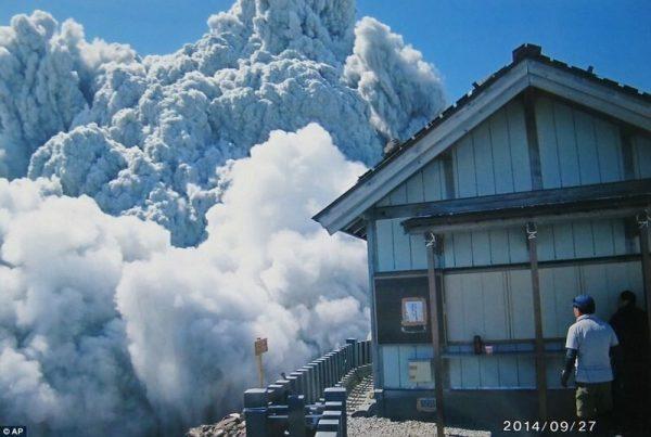 Извержение вулкана Онтаки
