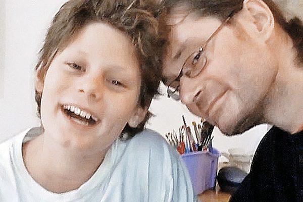 Вадим Никитин с сыном Валентином, фото