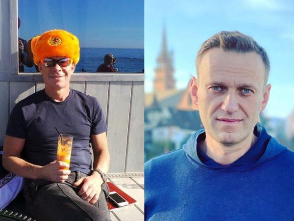 Коллаж Олег Газманов и Алексей Навальный
