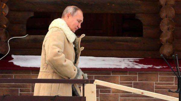 Владимир Путин на Крещение