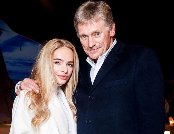 Дмитрий Песков с дочкой