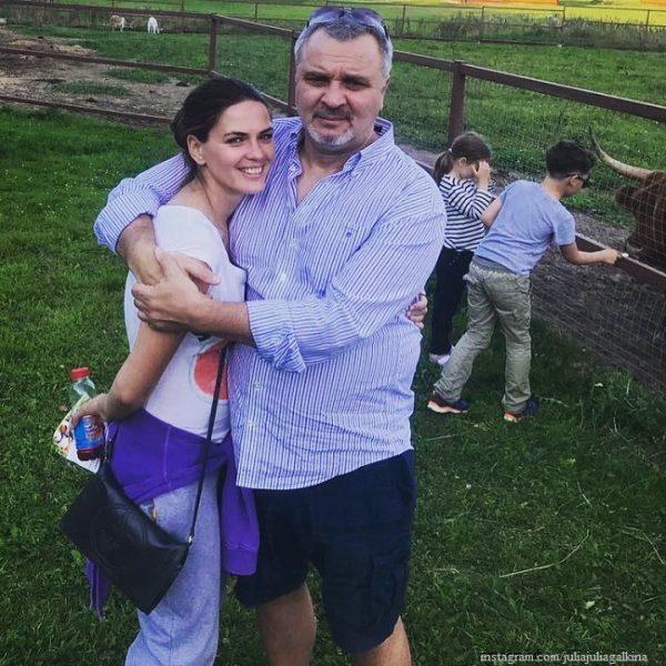 Юлия Галкина с мужем