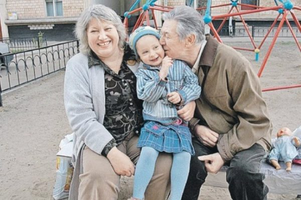 Александр Белявский с супругой Людмилой и дочерью Александрой