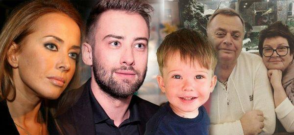 Жанна Фриске и Дмитрий Шепелев с сыном, родители певицы