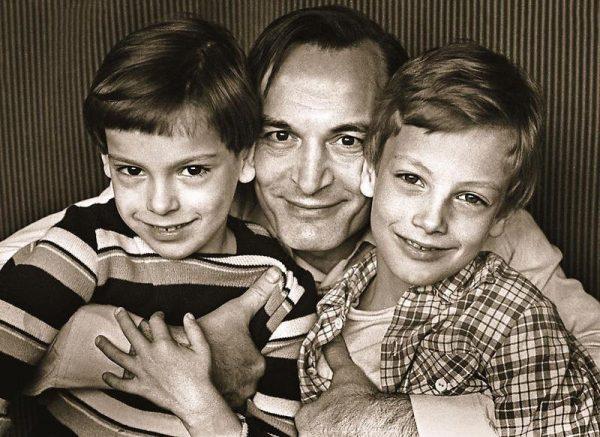 Василий Лановой с сыновьями