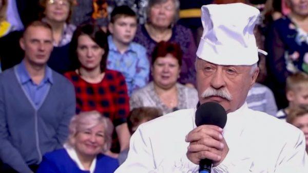 Якубович в наряде повара