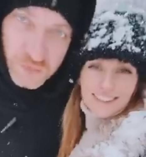 Александра Савельева с мужем