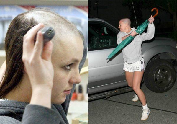 Бритни Спирс лысая