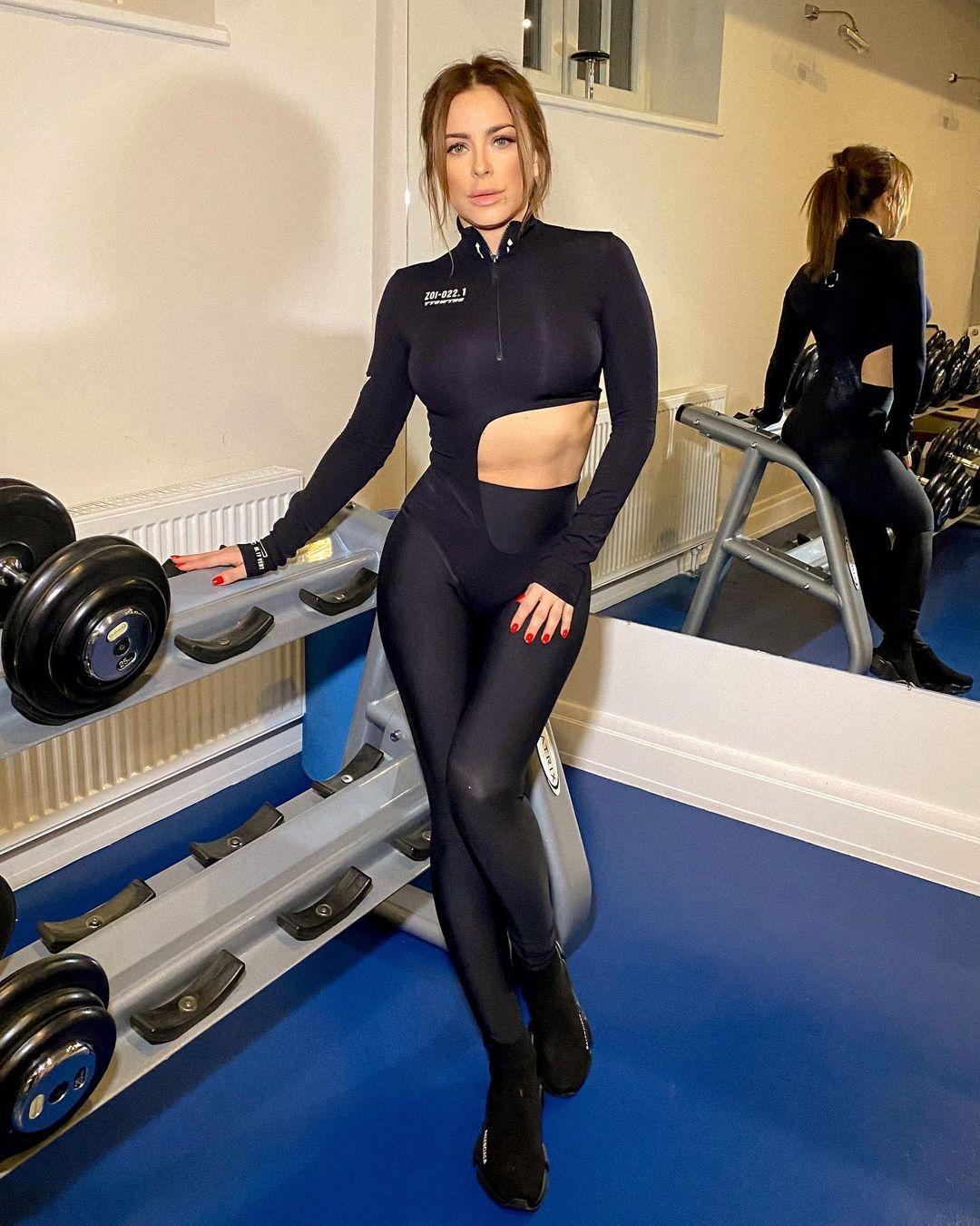 Ани Лорак в спортзале