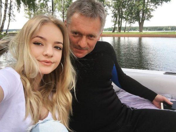 Елизавета Пескова и Дмитрий Песков