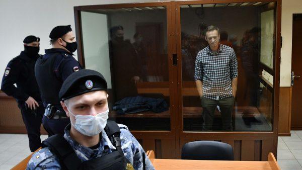 Алексей Навальный на суде по клевете на ветерана