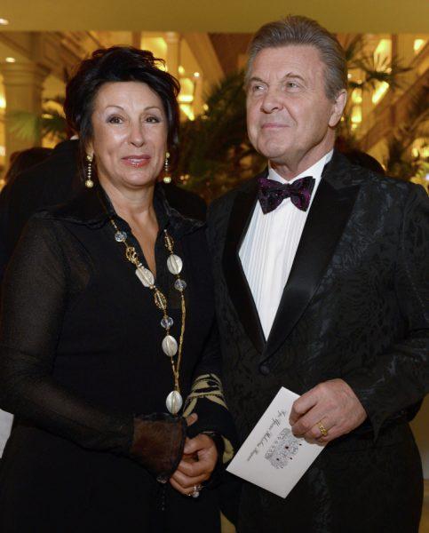 Лев Лещенко с женой Ириной,