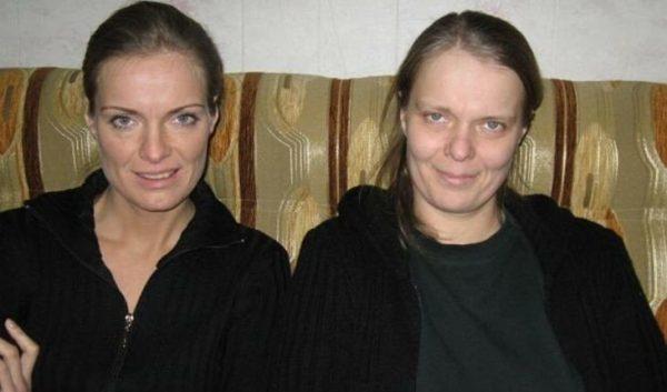 Ольга Копосова с сестрой