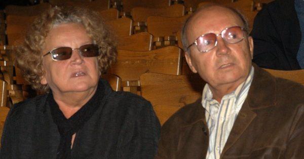 Андрей Мягков с женой.