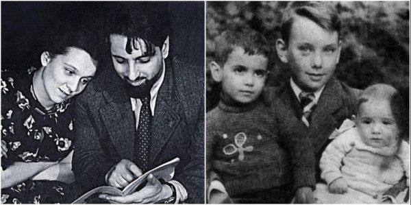 Нина Ольшевская с Виктором Ардовым и их сыновья
