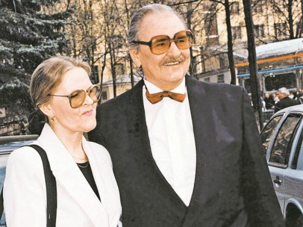 Юрий Яковлев с третьей женой Ириной Сергеевой