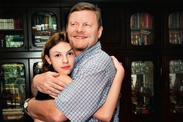 Виталий Соломин с дочерью