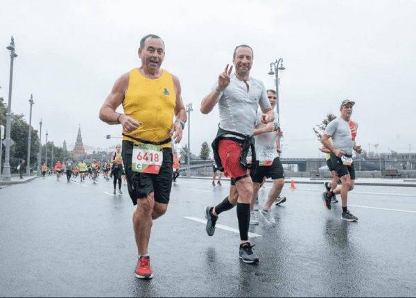 Павел Поселёнов на Московском марафоне