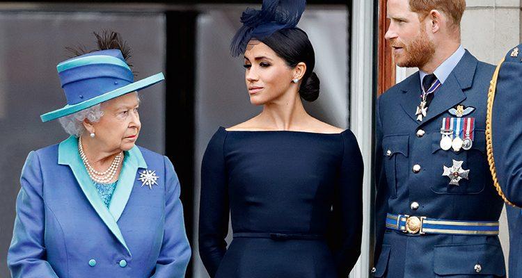 Королева Елизавета вторая, Меган Маркл и принц Гарри