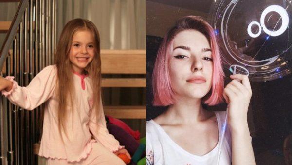 Ульяна Андрес в детстве и сейчас