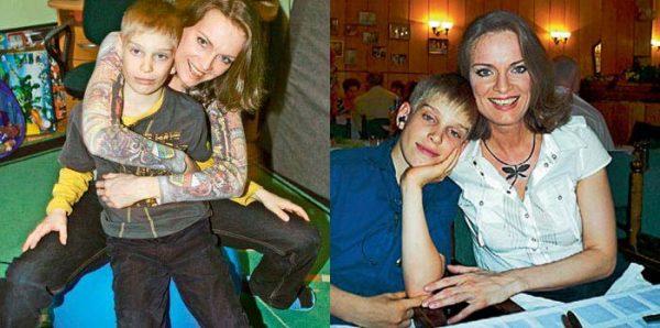 Ольга Копосова с сыном