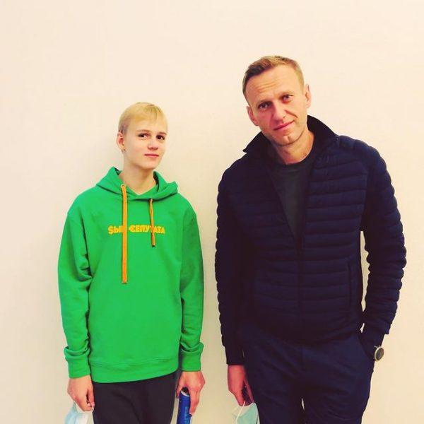 Захар Навальный с отцом