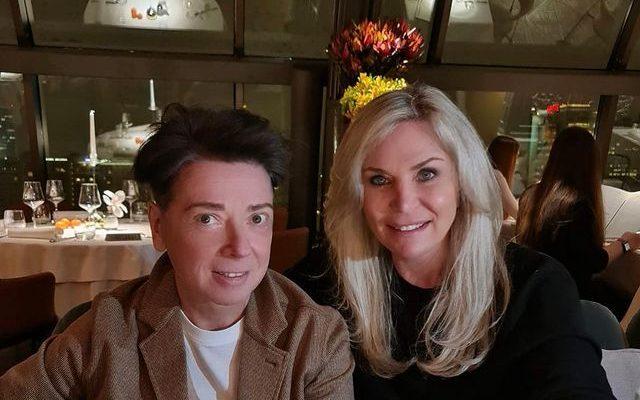 Валентин и Марина Юдашкины в ресторане