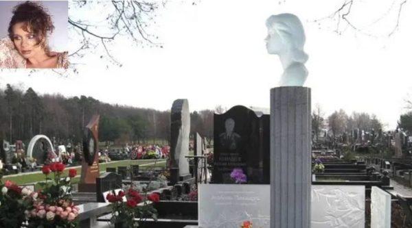 Памятник на могиле Любови Полищук