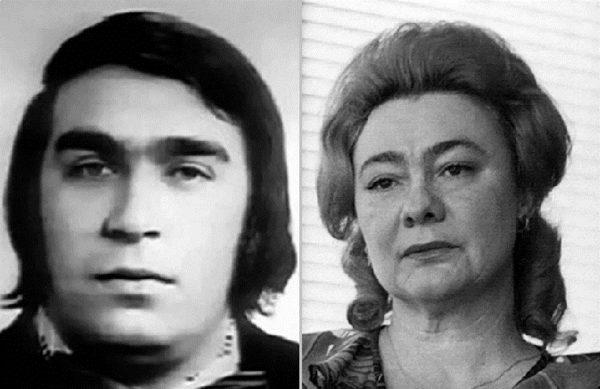 Борис Буряце и Галина Брежнева