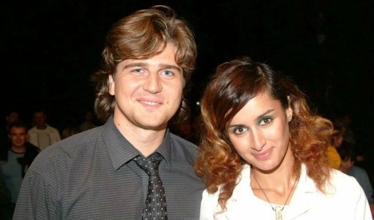Тина Каделаки и ее первый муж Андрей Кондрихин.