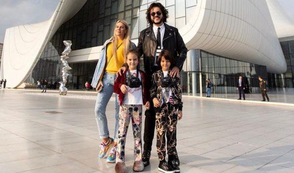 Катя Гусева и Филипп Киркоров с детьми. Раньше девушка была блондинкой