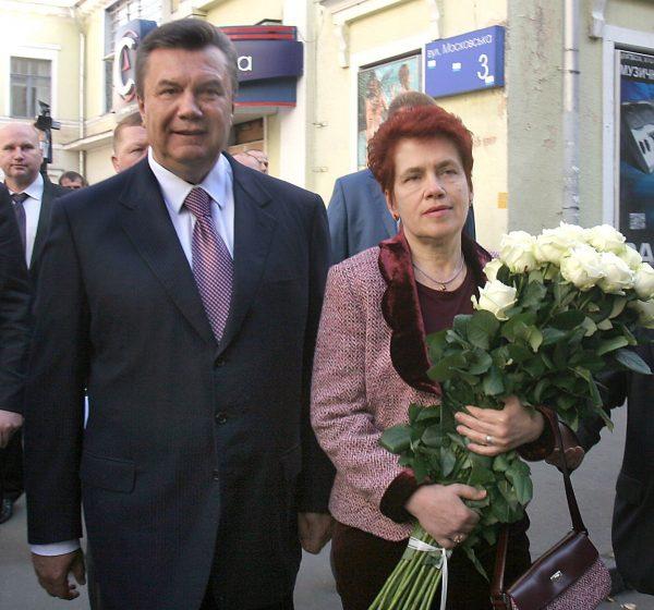 Виктор Янукович с женой Людмилой