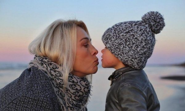 Легчилова с сыном