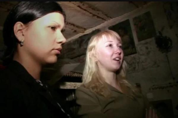 Лена Самохина и Катя Мартынова в бункере