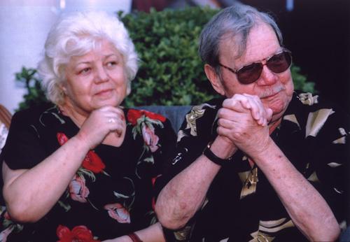 Михаил Пуговкин с женой
