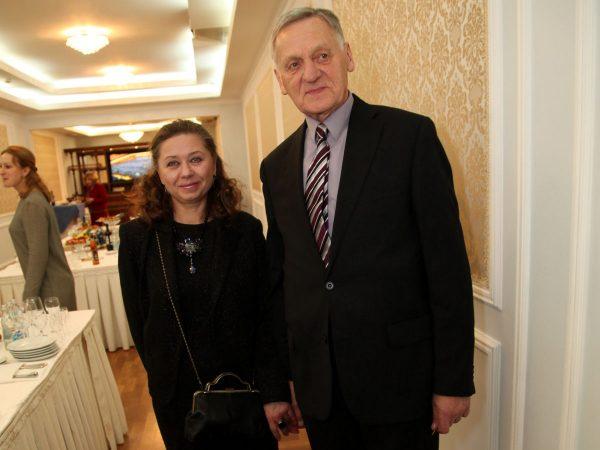 Миколас Орбакас с женой Мариной