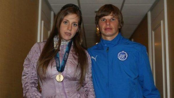 Барановская и Аршавин в молодости