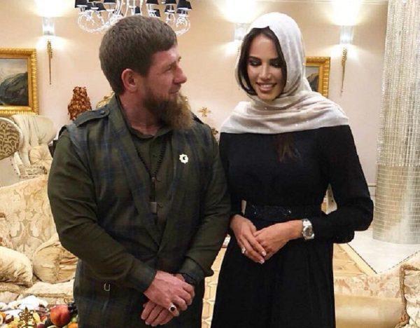 Анастасия Решетова с президентом Чечни