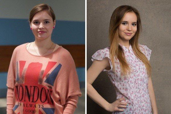 Полина Гренц до и после