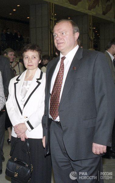 Геннадий Зюганов с женой