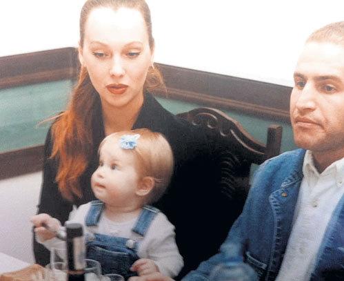 Мария Воробьёва и Леонид Агутин с маленькой Полиной
