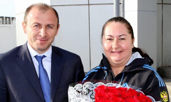 Елена Вяльбе с мужем Максимом
