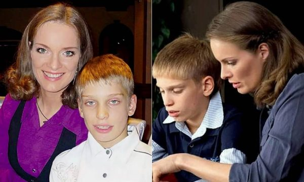 Ольга Копосова с сыном Глебом