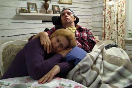 Алексей Янин с мамой