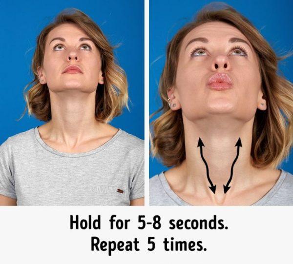 Как быстро убрать второй подбородок и подтянуть овал лица