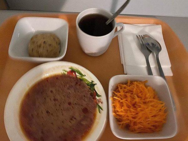 Скучная больничная еда