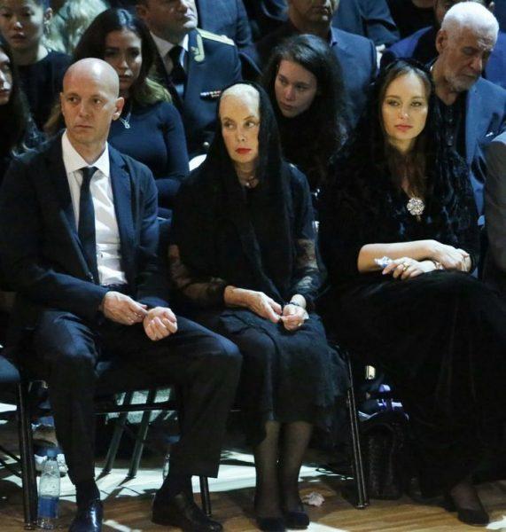 Нелли Кобзон на церемонии прощания с Иосифом Кобзоном