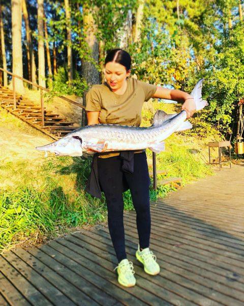 Ирина Дубцова с уловом
