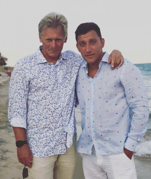 Дмитрий Песков с сыном Николаем